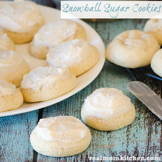 Snowball Sugar Cookies | realmomkitchen.com