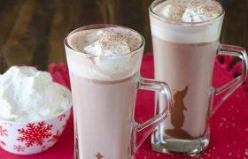 Black Bottom Hot Chocolate | realmomkitchen.com