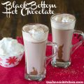 Black Bottom Hot Chocolate with Marshmallow Whipped Cream   realmomkitchen.com