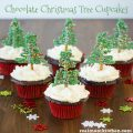 Chocolate Christmas Tree Cupcakes | realmomkitchen.com