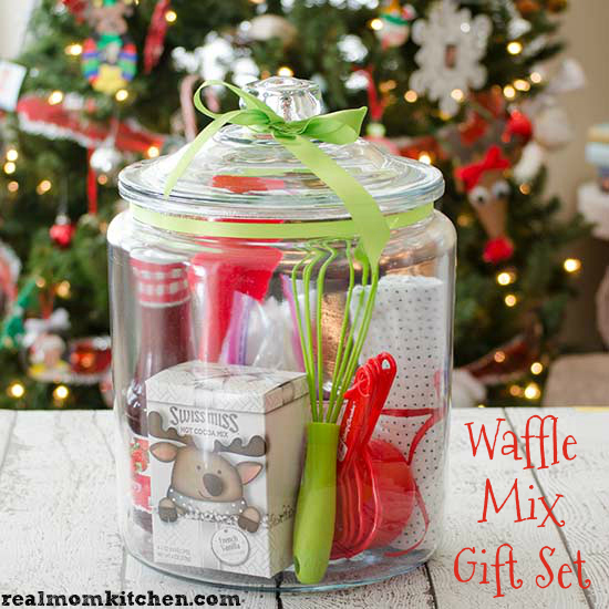 Finished Waffle MIx Gift Set in a Jar - realmomkitchen.com