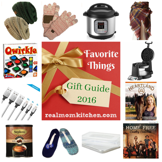 Favorite Things Gift Guide 2016| realmomkitchen.com