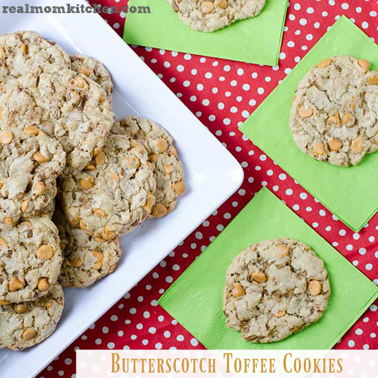 Butterscotch Toffee Cookies | realmomkitchen.com