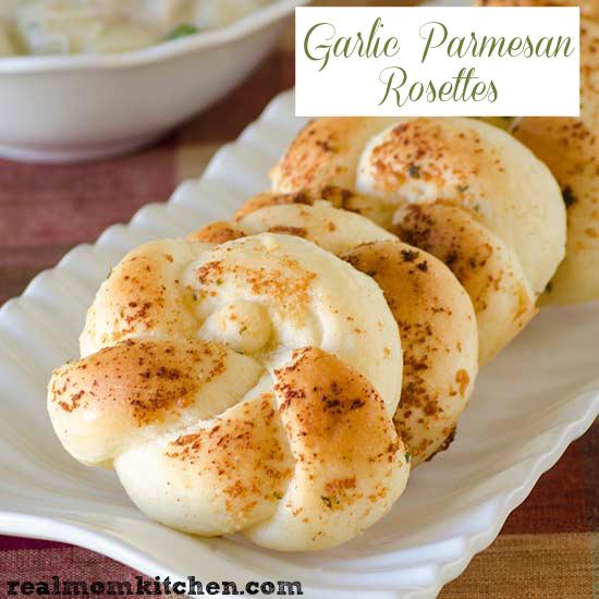 Garlic Parmesan Rosettes | realmomkitchen.com
