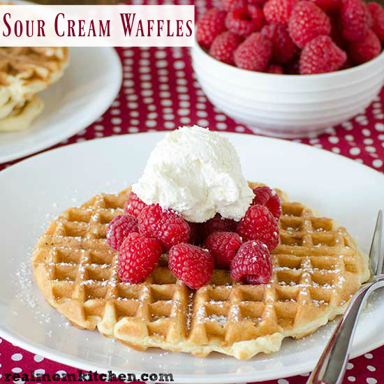 Sour Cream Waffles   realmomkitchen.com