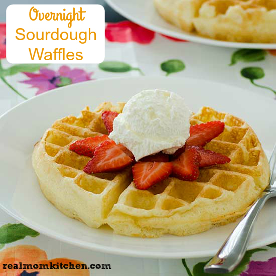 Overnight Sourdough Waffles | realmomkitchen.com