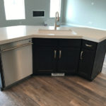 asko dishwasher in island | realmomkitchen.com