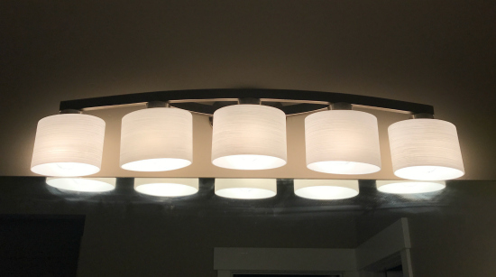 Spectacular We also chose this light vanity light from Lowe us for my boys bathroom in the basement I was excited about the look of both and loved the prices