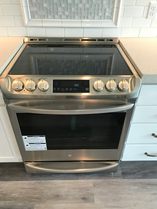 LG Stainless Steel Slide In Oven | realmomkitchen.com