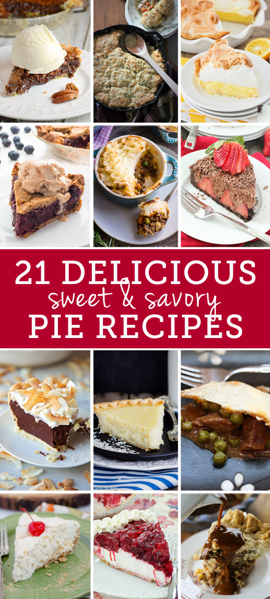 21 Delicious Sweet and Savory Pie Recipes including Raspberry Cream Pie | realmomkitchen.com