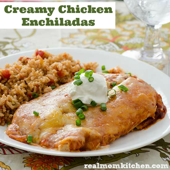 Creamy Chicken Enchiladas | Real Mom Kitchen