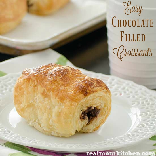 Easy Chocolate Filled Croissants | realmomkitchen.com