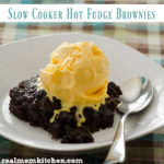 Slow Cooker Hot Fudge Brownies | realmomkitchen.com