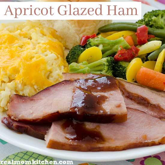 Apricot Glazed Ham | realmomkitchen.com