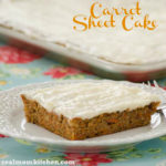 Carrot Sheet Cake | realmomkitchen.com