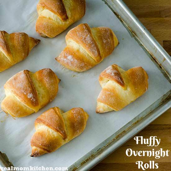 Fluffy Overnight Rolls   realmomkitchen.com