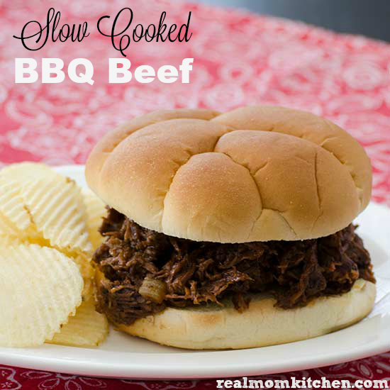 Slow Cooked BBQ Beef | realmomkitchen.com