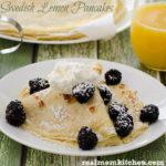 Swedish Lemon Pancakes | realmomkitchen.com