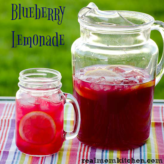 Blueberry Lemonade | realmomkitchen.com