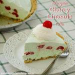 Frozen Cherry Limeade Pie | realmomkitchen.com