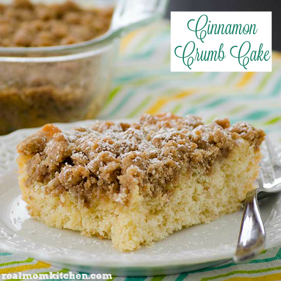 Cinnamon Crumb Cake | realmomkitchen.com