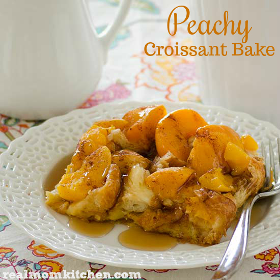 Peachy Croissant Bake | realmomkitchen.com