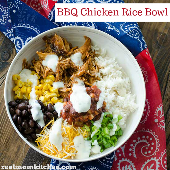 BBQ Chicken Rice Bowl | realmomkitchen.com