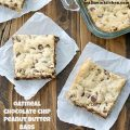 Oatmeal Chocolate Chip Peanut Butter Bars | realmomkitchen.com