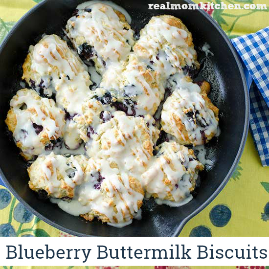 Blueberry Buttermilk Biscuits | realmomkitchen.com