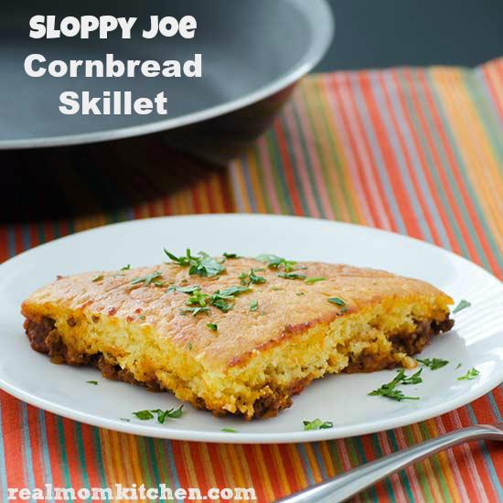 Sloppy Joe Cornbread Skillet   realmomkitchen.com