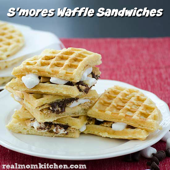 Smores Waffle Sandwiches   realmomkitchen.com