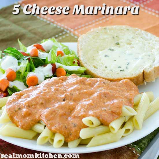 5 Cheese Marinara Sauce | realmomkitchen.com