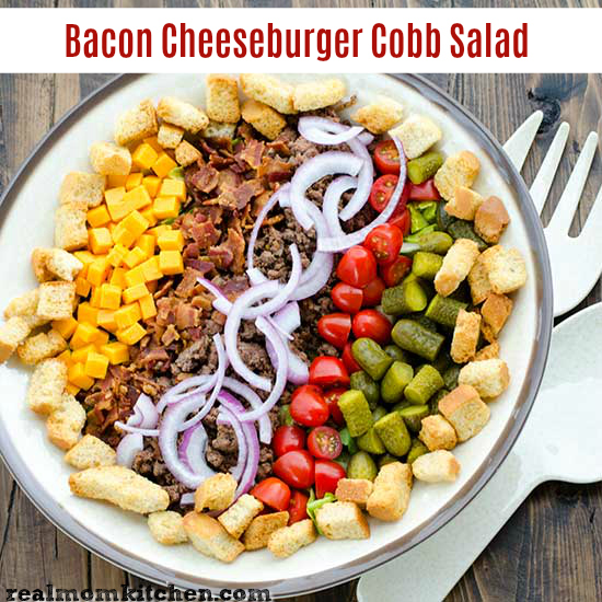 Bacon Cheeseburger Cobb Salad | realmomkitchen.com