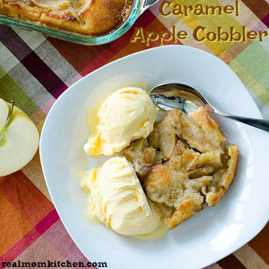 Real Mom Kitchen: Caramel Apple Cobbler