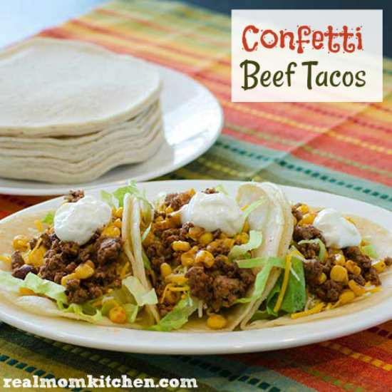 Confetti Beef Tacos | realmomkitchen.com