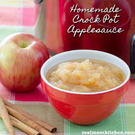 Homemade Crock Pot Applesauce   realmomkitchen.com