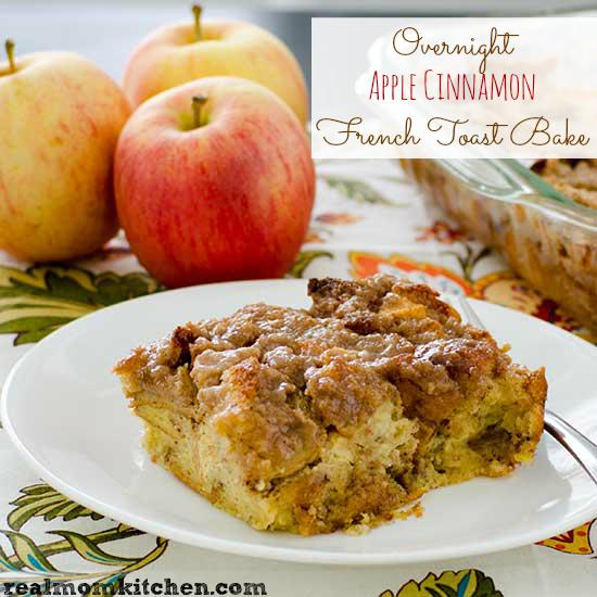 Overnight Apple Cinnamon French Toast Bake | realmomkitchen.com