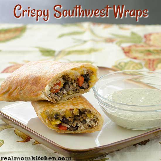 Crispy Southwest Wraps | realmomkitchen.com