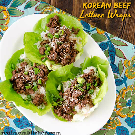 Korean Beef Lettuce Wraps | realmomkitchen.com