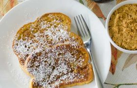 Pumpkin French Toast with Whipped Pumpkin Butter | realmomkitchen.com