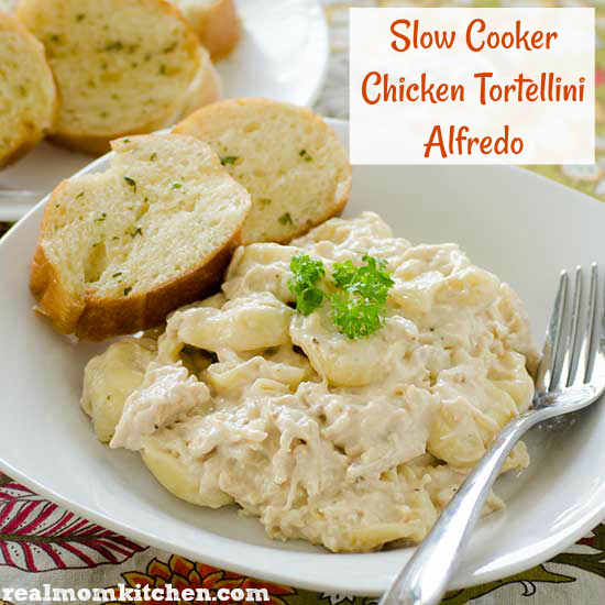 Slow Cooker Chicken Tortellini Alfredo | Real Mom Kitchen