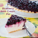 Blueberry Sour Cream Pie | realmomkitchen.com