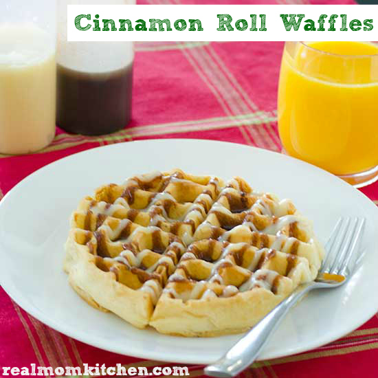 Cinnamon Roll Waffles | realmomkitchen.com