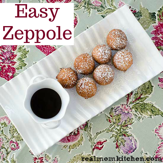Easy Zeppole | realmomkitchen.com