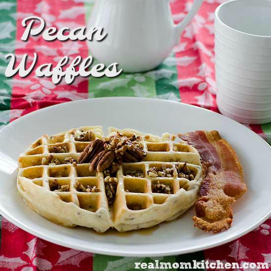 Pecan Waffles   realmomkitchen.com