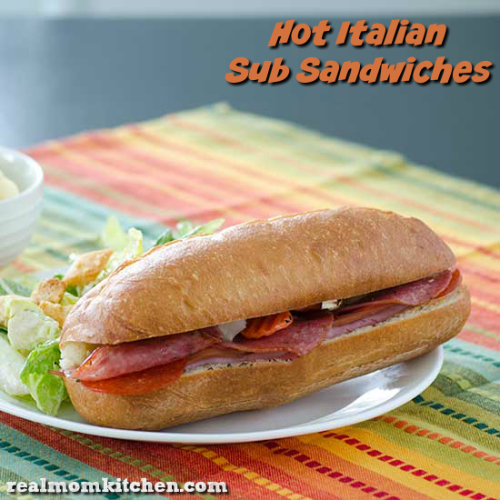 Hot Italian Sub Sandwiches | realmomkitchen.com