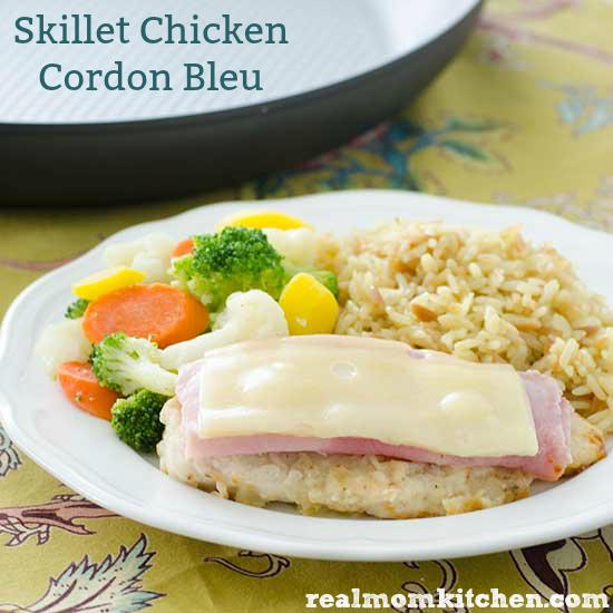 Skillet Chicken Cordon Bleu   realmomkitchen.com
