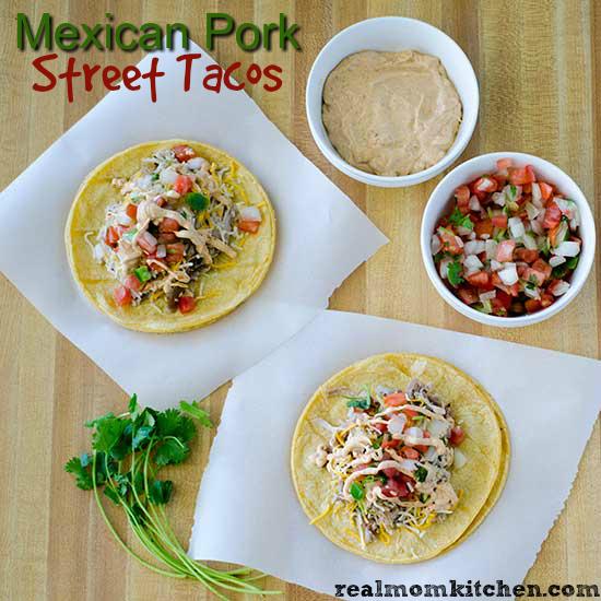 Mexican Pork Street Tacos   realmomkitchen.com