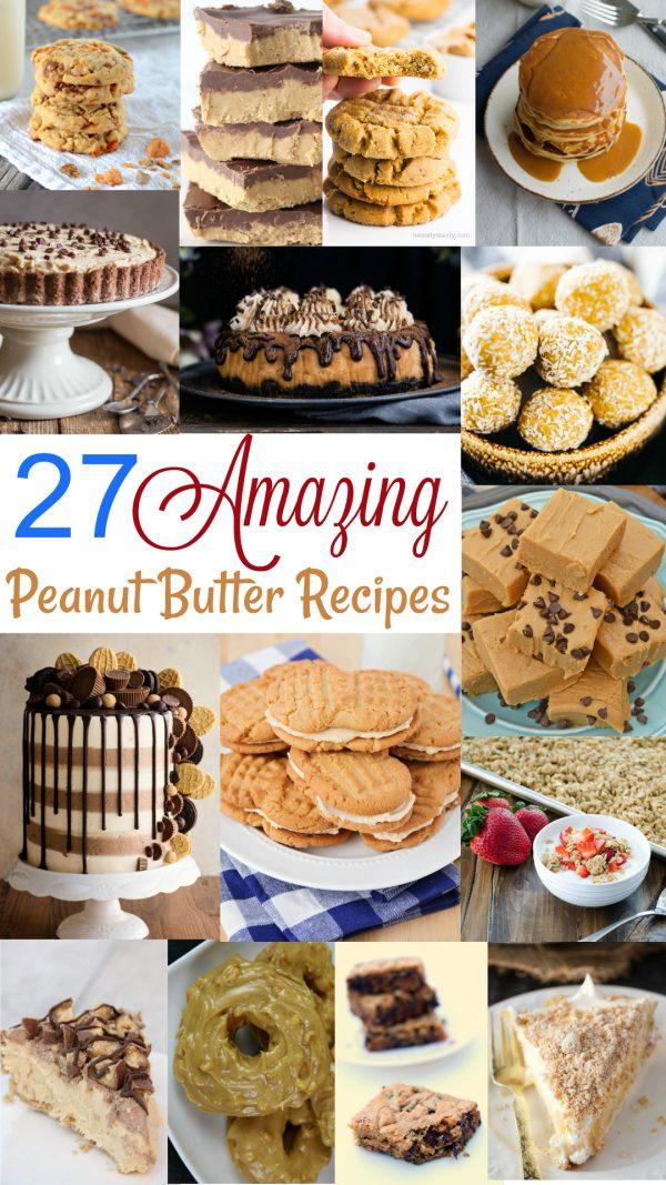 27 Amazing Peanut Butter Recipes | realmomkitchen.com #peanutbutterloversday