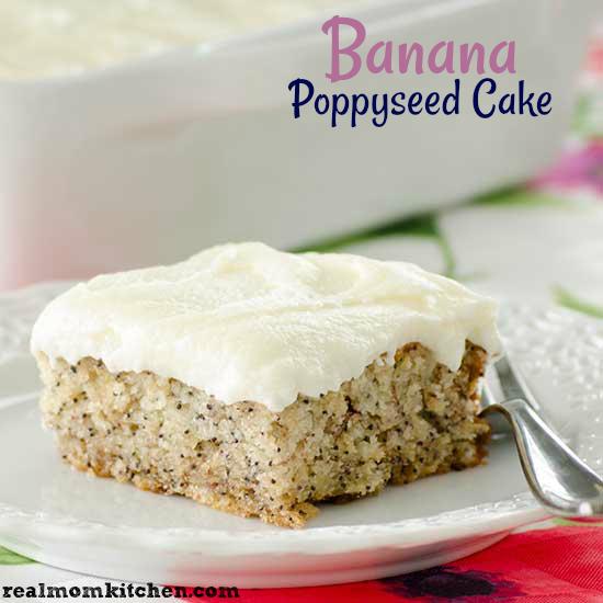 Banana Poppyseed Cake | realmomkitchen.com